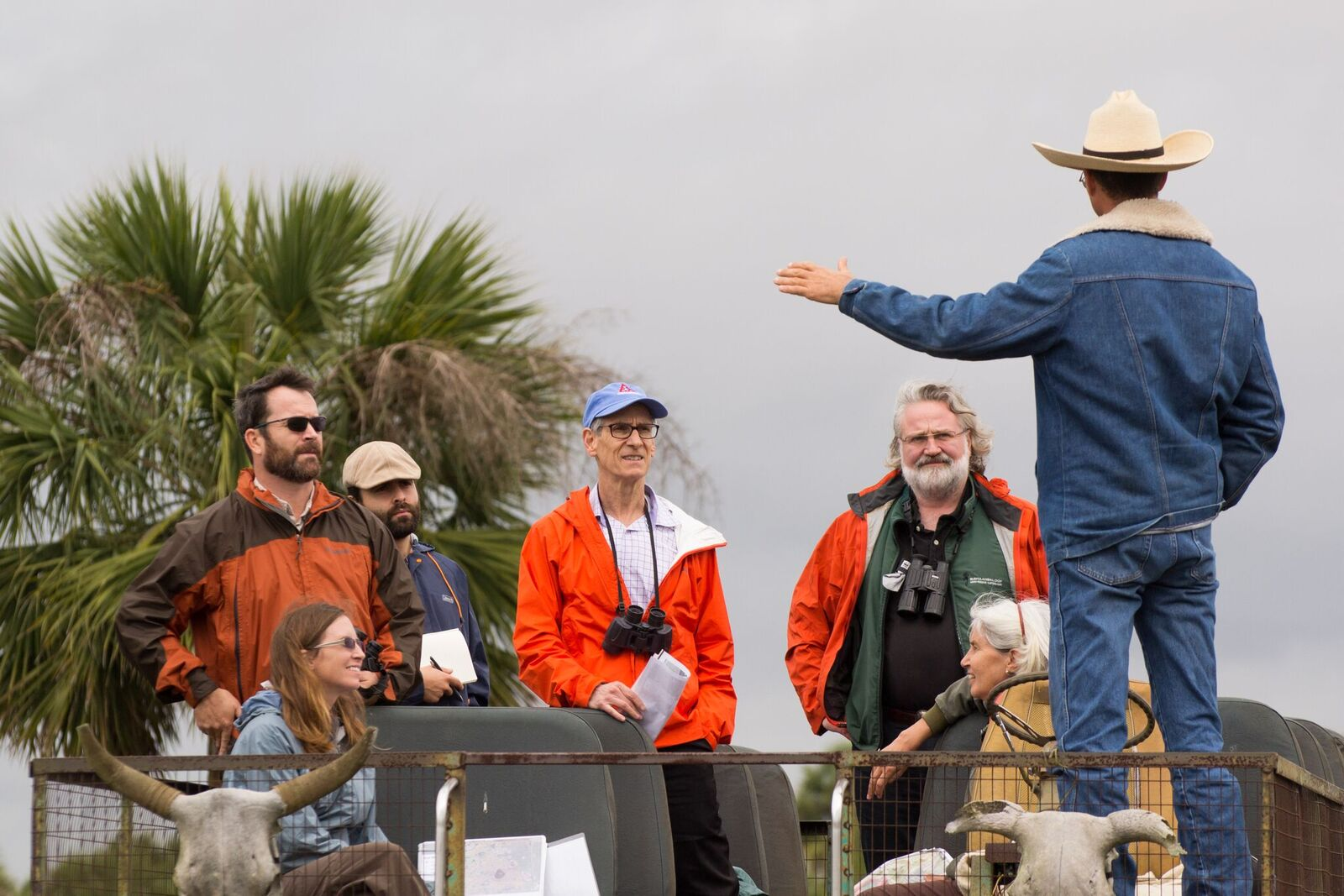 Swamp buggy tour at the MAERC site