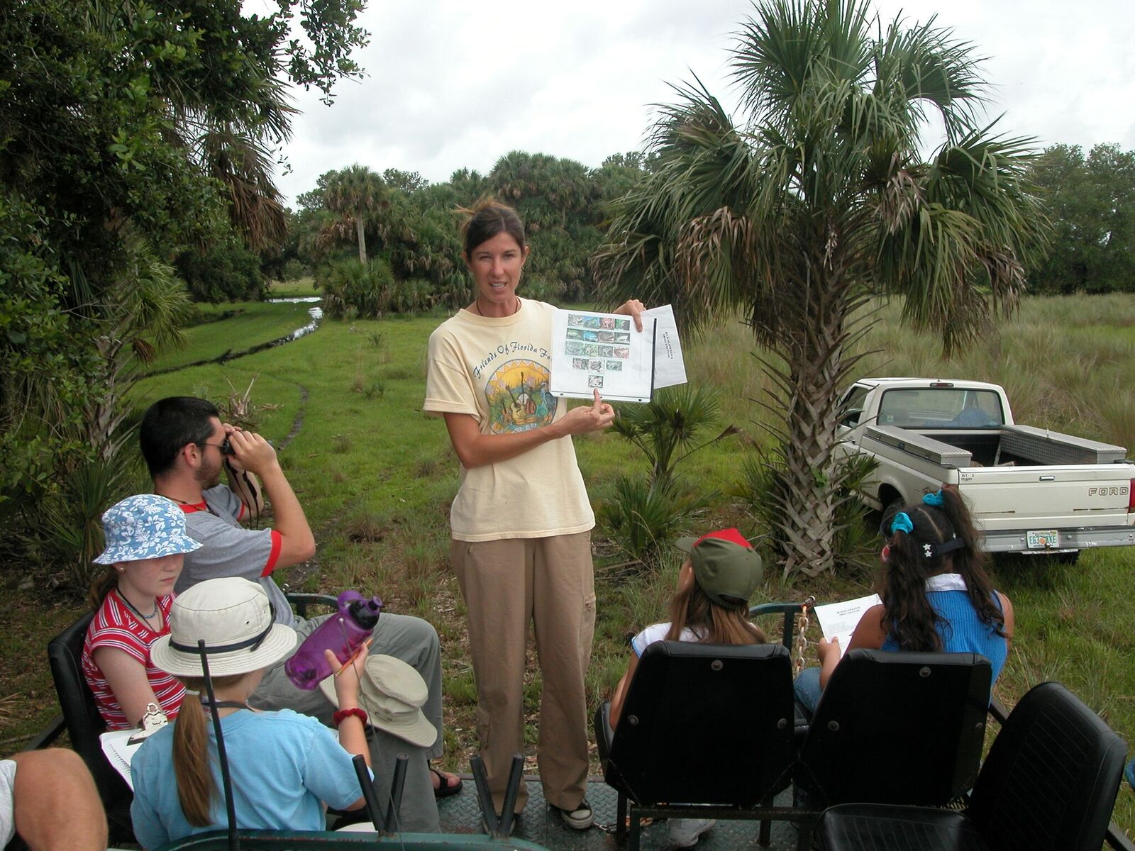 Tour group gets an amphibian talk